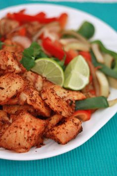Spicy Blackened Fish Fajitas I One Lovely Life- Very flavorful and easy.  Make more pepper and onion next time as there is a lot of fish.