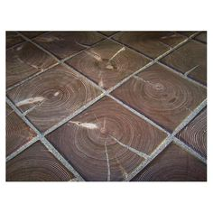 end grain laid as tile...I don't know how but love it! - Don't care for tile but this I neat!