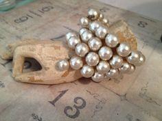Vintage Pearl Memory Wrap Bracelet by bellablissdesigns on Etsy, $18.00