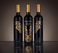 Gravitas - Wine Branding by Alvin Edison, via Behance