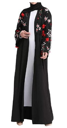 68dbe0e681547 Etecredpow Women s Islamic Abaya Turkish Muslim Long Sleeve Dress Cardigans   cardigan  elbise  modelleri