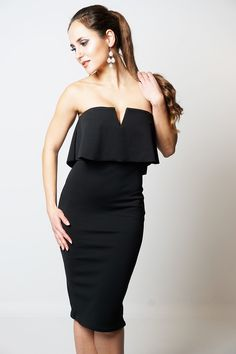 Now available: Stylish Black Fri... Order here: http://www.fbargainsgalore.co.uk/products/stylish-black-frill-overlay-womens-bandeau-dress?utm_campaign=social_autopilot&utm_source=pin&utm_medium=pin