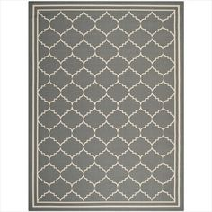 Safavieh CY6889-246 Courtyard Collection Indoor/Outdoor Area Rug, 9-Feet by 12-Feet, Grey and Beige