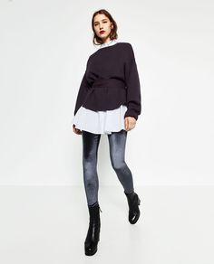 Image 1 of VELVET LEGGINGS from Zara