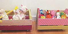 Como usar Caixotes de madeira na decoração do quarto infantil - Dicas pra Mamãe