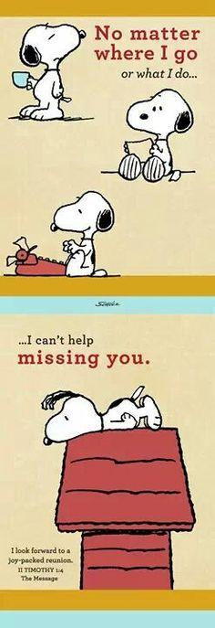 No matter I go, missing you