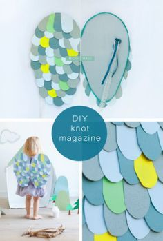 # DIY Owl Wings with felt wings and muslin fabric??