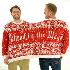 Believe in the Magic BFF Twosie - 2 Person Christmas Sweater