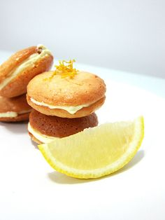 Recipe for yummy lemony almond sandwich cookies.