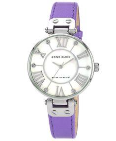 Anne Klein Lavender Leather Watch