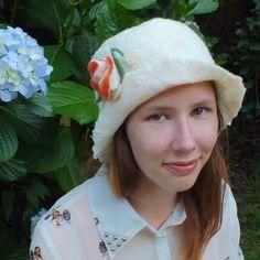 Bridal Wool Felt Hat New Zealand wool merino and by FeltSoapGood, $69.00