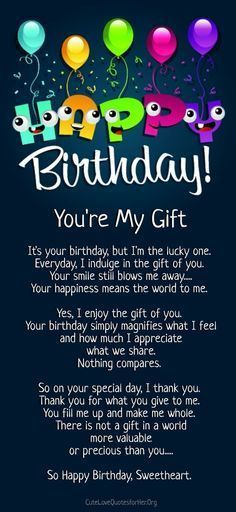Happy Birthday Love Poems For Him  Cute Love Quotes For Her
