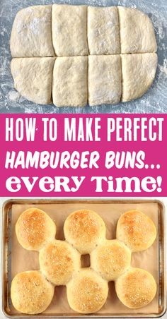 Best Hamburger Buns Recipe: Easy Homemade Bun! So just how do you make the best hamburger buns of all time? It's actually really easy! You'll just use your mixer to create the dough, let it rest, form into balls, let it rest again, and bake! And the taste is out of this world! Go grab the recipe and give them a try this week! Homemade Hamburger Buns, Hamburger Bun Recipe, Homemade Buns, Best Bbq Recipes, Barbecue Recipes, Crockpot Recipes, Favorite Recipes, Winter Recipes, Summer Recipes