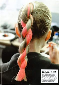 Kool-Aid dyed hair. #dyed #hair #hairstyles #beauty #bbloggers #coral
