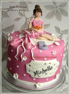 Ballerina Cake with Ballet Slippers Cupcakes