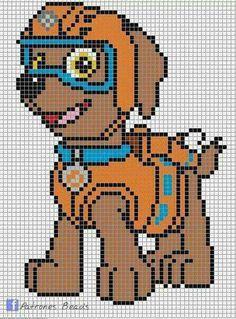 Pixel Art Pat Patrouille Zuma