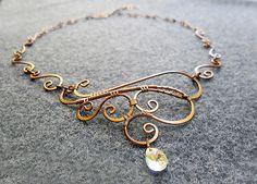 HENNA  Kupfer Halskette mit Australien gold von MakeMyStyle auf Etsy