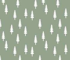 Changing Pad Cover- Sage Trees
