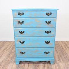 Heywood Wakefield Five Drawer Vintage Maple Dresser W