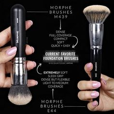 Buff that foundation girl! Kong KimThai shares her favorite foundation brushes ! - Makeup Brushes & Tools - Make-Up Highlighter Makeup, Makeup Dupes, Makeup Kit, Skin Makeup, Makeup Inspo, Beauty Makeup, Drugstore Contouring, Beauty Dupes, Contouring Products