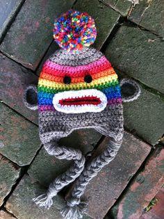 Child Sock Monkey Hat