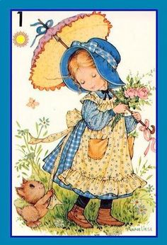Holly Hobbie, Cartoon Posters, Cartoon Art, Big Eyes Paintings, Cute Photos, Cute Pictures, Sarah Key, Cute Illustration, Vintage Cards