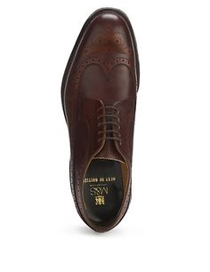 Leather Lace Up Brogue Shoes | M&S Lovingly crafted over 8 weeks by the quintessentially British shoe makers Cheaney's