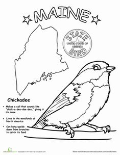 Maine State Stamp Coloring Page USA Coloring Pages Pinterest