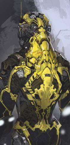 rhubarbes: Mech by Sung-choul Ham More robots here. Robot Concept Art, Armor Concept, Armadura Sci Fi, Character Concept, Character Art, Gundam, Science Fiction, Arte Robot, Carapace