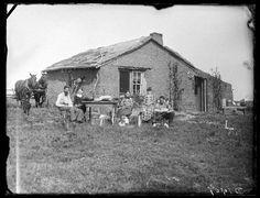Sod house Nebraska 1888.