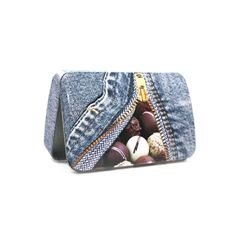 small hinged chocolate tin box with domed lid made in Tinpak Dinah Yang