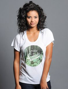 T-shirts for women. Sevenly Simple Things Raglan Tee