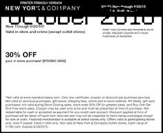 Free Printable Coupons: New York And Company Coupons