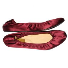 Pre-owned Satin Lanvin Ballerina Slippers S40 (€190) ❤ liked on Polyvore