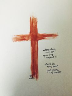 """""""where there was sin, your love rushed in. """"where sin runs deep, your grace runs deeper. Give Me Jesus, God Jesus, Jesus Faith, Faith Bible, Jesus Christ, Love The Lord, Gods Love, Christian Life, Christian Quotes"""