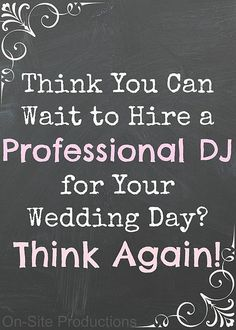 On-Site Wedding Receptions | Don't Wait... Book Now! #AlabamaWeddingDJ #BirminghamWeddingDJ #WeddingDJ #BookAProfessionalWeddingDJ