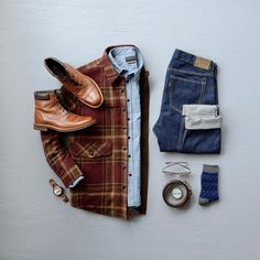 Men's Rugged Fashion! Shop the look! #menswear #mensfashion #menstyle #boots #denim #watch