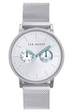 Ted Baker London Multifunction Mesh Strap Watch, 40mm available at #Nordstrom
