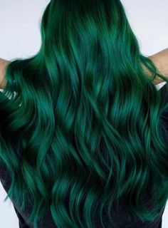 Stunning Green Hair Colors For Long Hairstyles for can find Green hair and more on our website.Stunning Green Hair Colors For. Vivid Hair Color, Green Hair Colors, Hair Color Dark, Cool Hair Color, Crazy Hair Colour, Bright Hair Colors, Hair Colours, Color Black, Emerald Green Hair