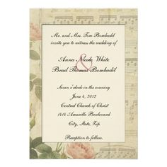 21 Best Music Themed Wedding Invitations Images Wedding Reception