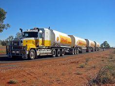 Aussie quad road train...
