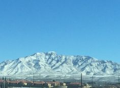 Snow on the Franklin Mountains in El Paso.  It's a fantastic sight and a rare one.