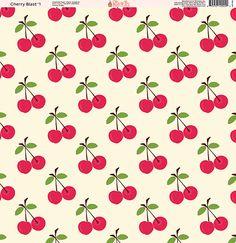 Ella and Viv Paper Company - Cherry Blast Collection - 12 x 12 Paper - One at Scrapbook.com