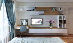 The Best 2019 Interior Design Trends - Interior Design Ideas Small Room Design Bedroom, Bedroom Setup, Wardrobe Design Bedroom, Bedroom Furniture Design, Modern Bedroom Design, Home Room Design, Home Office Design, Room Decor Bedroom, Home Bedroom