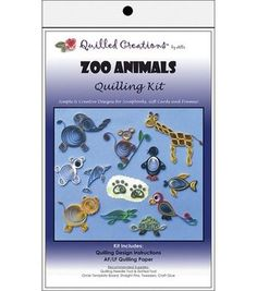Quilled Creations Quilling Kits-Zoo Animals