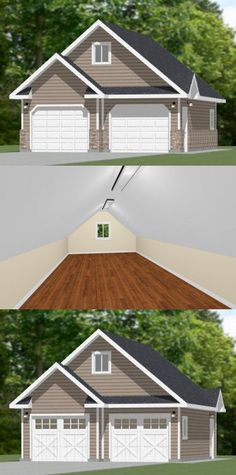 Garage with loft plans 1476 2 by behm design for the for 24x30 garage plans