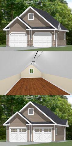 24x30 2-Car Garage -- #24X30G2 -- 1,069 sq ft - Excellent Floor Plans
