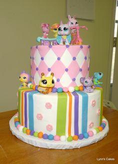 Littlest Pet Shop Birthday Cakes - Bing Images Lps Cakes, Fondant Cakes, Cupcake Cakes, Little Pet Shop, Little Pets, Pretty Cakes, Cute Cakes, Birthday Cakes, Birthday Ideas