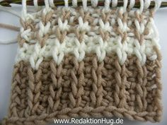 Tunesisch Häkeln - Rippenmuster - 1 Masche Strickstich, 1 Masche links, My Crafts and DIY Projects