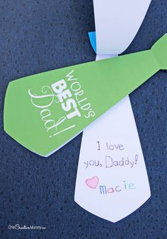 Cute printable Necktie Father's Day card {OneCreativeMommy.com}